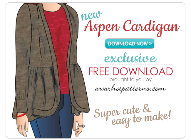 FREE Pattern Download, the Aspen Cardigan