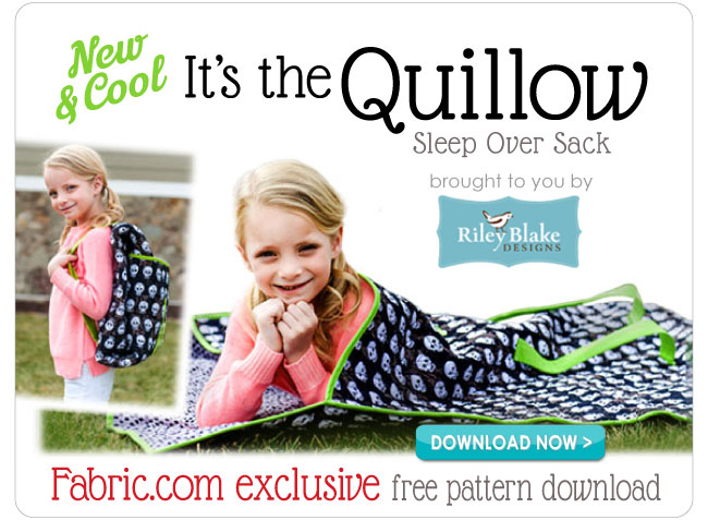 FREE Pattern Download, the Quillow Sleep Over Sack