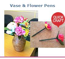Flower Vase & Pens