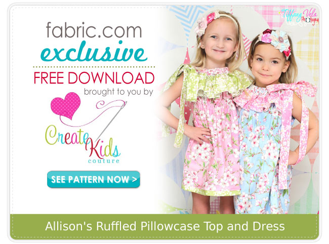 Allison's Ruffled Pillowcase Top and Dress Pattern