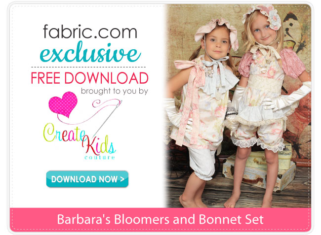 Barbara's Bloomers & Bonnet Pattern