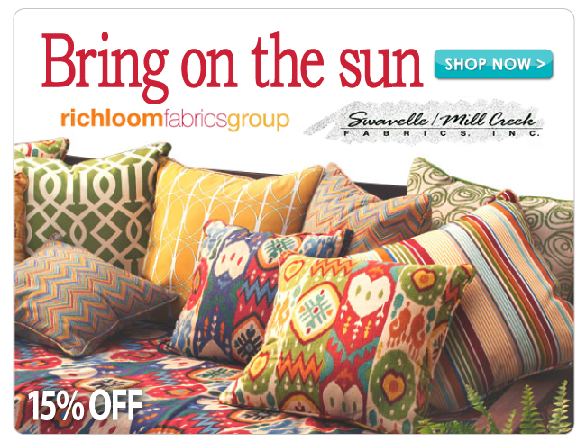 15% off Richloom and Swavelle/Mill Creek Home Decor Fabrics